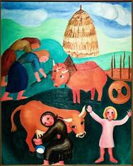 Washer women and oxen (1937) - Sarah Affonso (1899-1982)