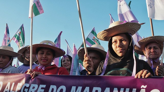 Indigenous Women's March joined the mobilization in Brasília - Créditos: Andressa Zumpano/CPT