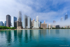 Image by NettyA (7272097@N08) and image name Chicago fog and reflections photo  about Another photo from Milton Lee Olive Park of the Chicago skyline.  I process my photos with Skylum's Luminar and find it easy to use with great results. Here is a link if anyone is interested in trying it out: skylum.grsm.io/janetteasche8660