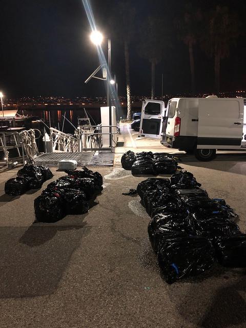 Photo:Coast Guard, partner agencies recover 1,300 lbs of marijuana near Catalina Island By Coast Guard News