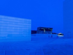 On the roof. Oslo opera house and Munch museum