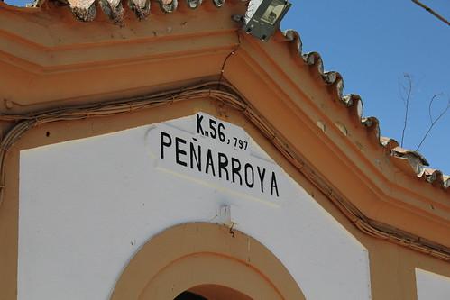 Antigua estación de tren del pueblo de Peñarroya-Pueblonuevo en Córdoba.
