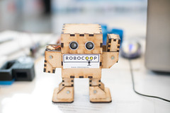Small plywood bipedal robot made by Robocoop