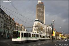 Alsthom TFS (Tramway Français Standard) – Semitan (Société d'Économie MIxte des Transports en commun de l'Agglomération Nantaise) / TAN (Transports en commun de l'Agglomération Nantaise) n°346