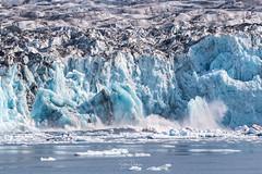 Image by spwasilla (spwasilla) and image name Columbia Glacier calving photo