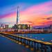 Twilight sunset at Han river