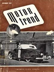 Motor Trend Cover December 1949