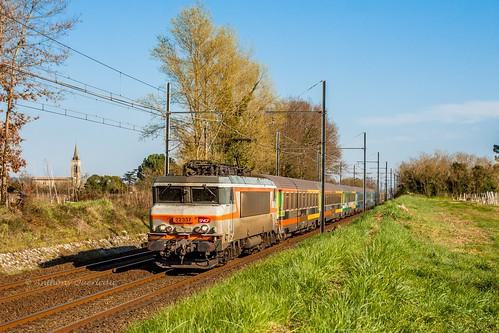 16 mars 2014 BB 22337 Train 4756 Marseille-St-Charles -> Bordeaux-St-Jean Portets (33)