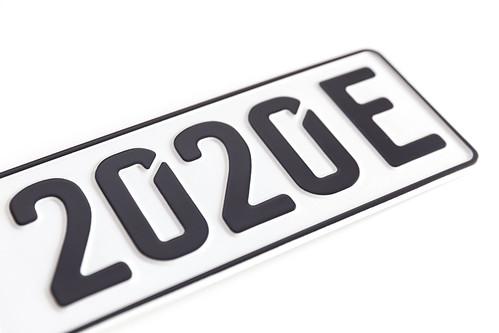 Deutsches E-Kennzeichen / Nummernschild für Elektroautos