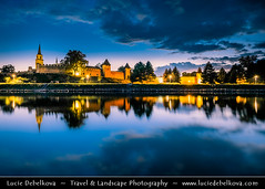 Image by © Lucie Debelkova / www.luciedebelkova.com (-lucie-) and image name Czech Republic - Nymburk - Former Royal City - Medieval walls at Twilight - Blue Hour - Night photo  about Join me @ Facebook   |   Twitter   |   500px     |   Instagram  |   YouTube   * * * * * *  Europe - Czech Republic - Czechia - Central Bohemian Region - Nymburk - Former Royal City situated on banks of River Labe Elbe founded in 1275 by Přemysl Otakar II. - Medieval walls at Sunset  Timelapse movies