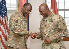 CG Wins meets with MG Mitchell L. Kilgo CECOM and APG Senior Commander