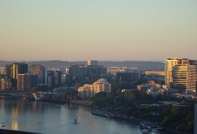 Photo:Brisbane.  View of the Brisbane River  towards the south in the early morning. By denisbin