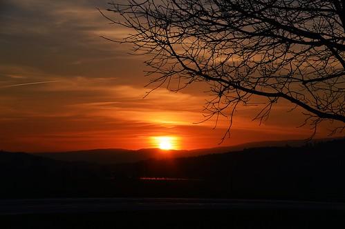 Erster Sonnenuntergang im Frühling 2019