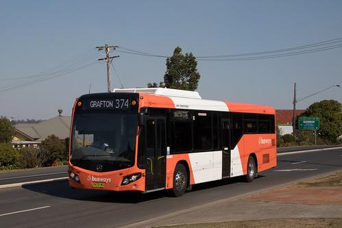 Busways Grafton (1248) Mercedes Benz O500LE/CC CB80 approaching Grafton's
