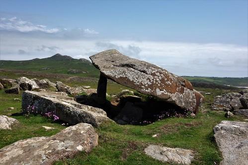 Dolmen Coetan Arthur, St. Davids Kopf, Pembrokeshire