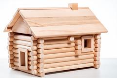 Model wooden vintage house - constructor for kids