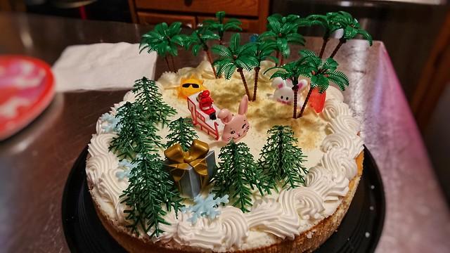 Fake birthday cake theme - Santa and the Ice Cream Bunny