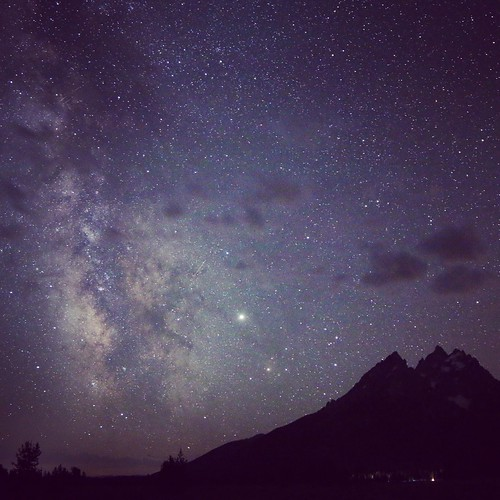 Milky Way over the Tetons
