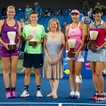 Anna Lena Groenefeld, Demi Schuurs, Andreja Klepac of Slovenia, Lucie Hradecka