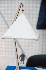 Mockup of a Leonardo da Vinci parachute