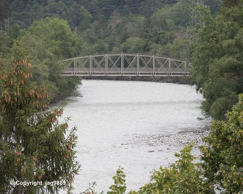RHE180 Dorfstrasse Bridge over the Hinterrhein River, Rothenbrunnen - Cazis, Canton of Graubünden, Switzerland