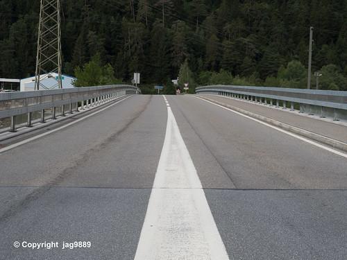 RHE179 Hauptstrasse Bridge over the Hinterrhein River, Rothenbrunnen - Cazis, Canton of Graubünden, Switzerland