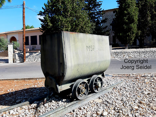 ES-07369 Binamar (Mallorca) Förderwagen /Grubenwagen No. 37 / Vagoneta Minera per al Transport del Carbó No. 37 im August 2019