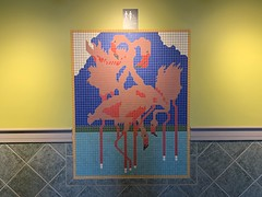 Flamingo Tile Mural Florida Keys Outlet Marketplace