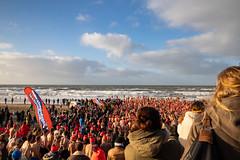 New Year's swim in Bloemendaal aan Zee