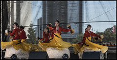 Korean dancers on stage King George Square-1=