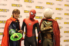 Image by pullip_junk (pullip_junk) and image name Doctor Strange, Spider-Man & Mysterio photo  about I attended Boston Fan Expo yesterday, managed to find quite a few Marvel cosplayers!
