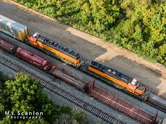 BNSF 1577 | EMD SD40-2R | BNSF 1991 | EMD SD40-2 | BNSF Tennessee Yard,