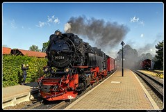 Image by ferdahejl (ferdinand_hejl) and image name HSB_BR 99 234_Wernigerode_Bahnhof Wernigerode-Westerntor_Harz_Sachsen-Anhalt_DE photo  about Wernigerode is a town in the district of Harz, Saxony-Anhalt, Germany. Until 2007, it was the capital of the district of  Wernigerode. Its population was 35,041 in 2012.  Wernigerode is located southwest of Halberstadt, and is picturesquely situated on the Holtemme river, on the north slopes of the