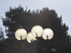 Electric Lamps Lit by the Sun