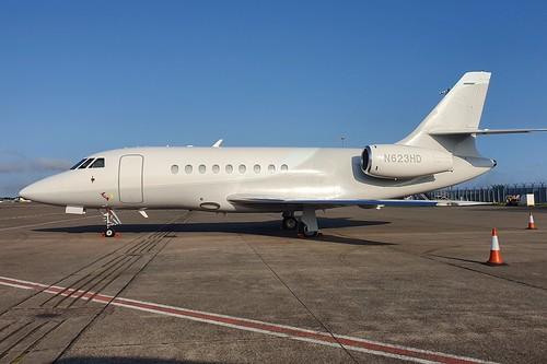 Dassault Aviation Falcon 2000 N623HD seen at Dublin EIDW/DUB