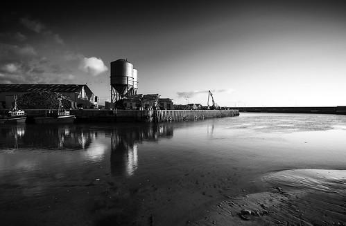 Wicklow Port low tide