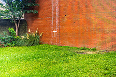 A SIMPLE WHITE CROSS [LOCATED IN A SMALL GARDEN IN PHIBSBOROUGH]-155068