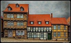 Image by ferdahejl (ferdinand_hejl) and image name Quedlinburg_Saxony-Anhalt_UNESCO_DE photo  about Quedlinburg is a town situated just north of the Harz mountains, in the district of Harz in the west of Saxony-Anhalt, Germany. In 1994, the castle, church and old town were added to the UNESCO World Heritage List.  Quedlinburg has a population of more than 24,000. The town was the capital of the di