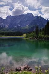 Lago di Fusine Superior Portrait HDR