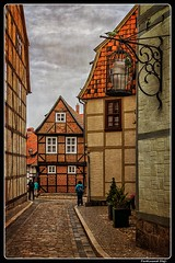 Image by ferdahejl (ferdinand_hejl) and image name Goslar_UNESCO_Niedersachsen_DE photo  about Quedlinburg is a town situated just north of the Harz mountains, in the district of Harz in the west of Saxony-Anhalt, Germany. In 1994, the castle, church and old town were added to the UNESCO World Heritage List.  Quedlinburg has a population of more than 24,000. The town was the capital of the di