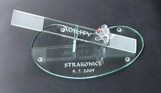 skleněné trofeje