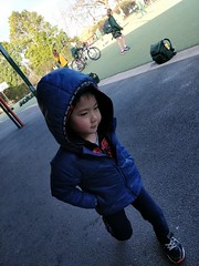 Image by avlxyz (avlxyz) and image name Liam walking to school in his blue hoodie and Spiderman hoodie photo