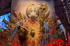 Borderland 3 Aufsteller mit Banditenmaske auf der Gamescom