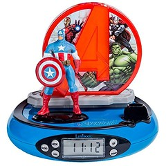 Image by Annova UK Ltd (183271744@N08) and image name Lexibook RP500AV Avengers Projector Radio Alarm Clock photo  about This cool Marvel Avengers Radio Alarm Clock will not only get your little one up in the morning, but will also help them drift off to sleep with its soothing nightlight function. The clock has handy added features such as snooze, an LCD display screen and built in FM radio and also features a fantas