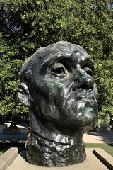 Image by Σταύρος (lifes__too_short__to__drink__cheap__wine) and image name #RodinSculptureGarden #StanfordUniversity photo  about Monumental Head of Jean d'Aire  (from The Burghers of Calais)