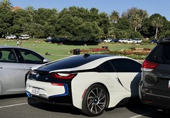 "Image by Σταύρος (lifes__too_short__to__drink__cheap__wine) and image name #StanfordUniversity photo  about The BMW i8 is a plug-in hybrid sports car developed by BMW. The i8 is part of BMW's electric fleet ""Project i"" being marketed as a new sub-brand, BMW i. A 2017 BMW i8 starts at a base price of $143,400. With the average insurance rate at $1,932 per year."
