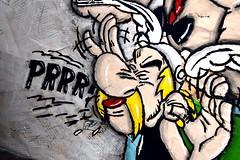 asterix obelix prrrr painting collage pop art by one - danor shtruzman