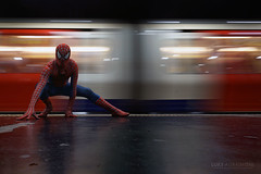 Image by Luke Agbaimoni (last rounds) (lastrounds) and image name Spiderman at St James's Park photo  about