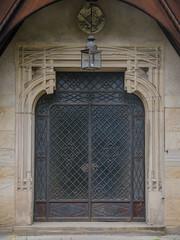 Porte principale du Château de la Leonardsau - Zoom
