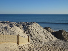 Sand Piles at West Beach
